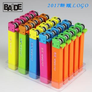 包邮BAIDE百得F07小方创意个性定制LOGO广告一次性塑料砂轮打火机
