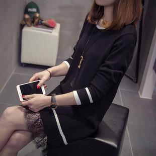 胖妹妹大码女装春装2019新款韩版打底毛衣200斤遮肚连衣裙中长款