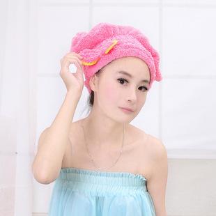 新品吸水干发帽 快速干发巾浴帽 可爱蝴蝶结加厚包头巾巾发1超强