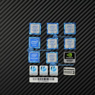 电脑性能标识 Intel酷睿六代CPU i3 i5 i7 标贴 显卡贴纸机箱LOGO