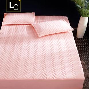 床笠单件加厚夹棉床罩床垫套席梦思保护套棕垫防滑1.8m1.5米床单
