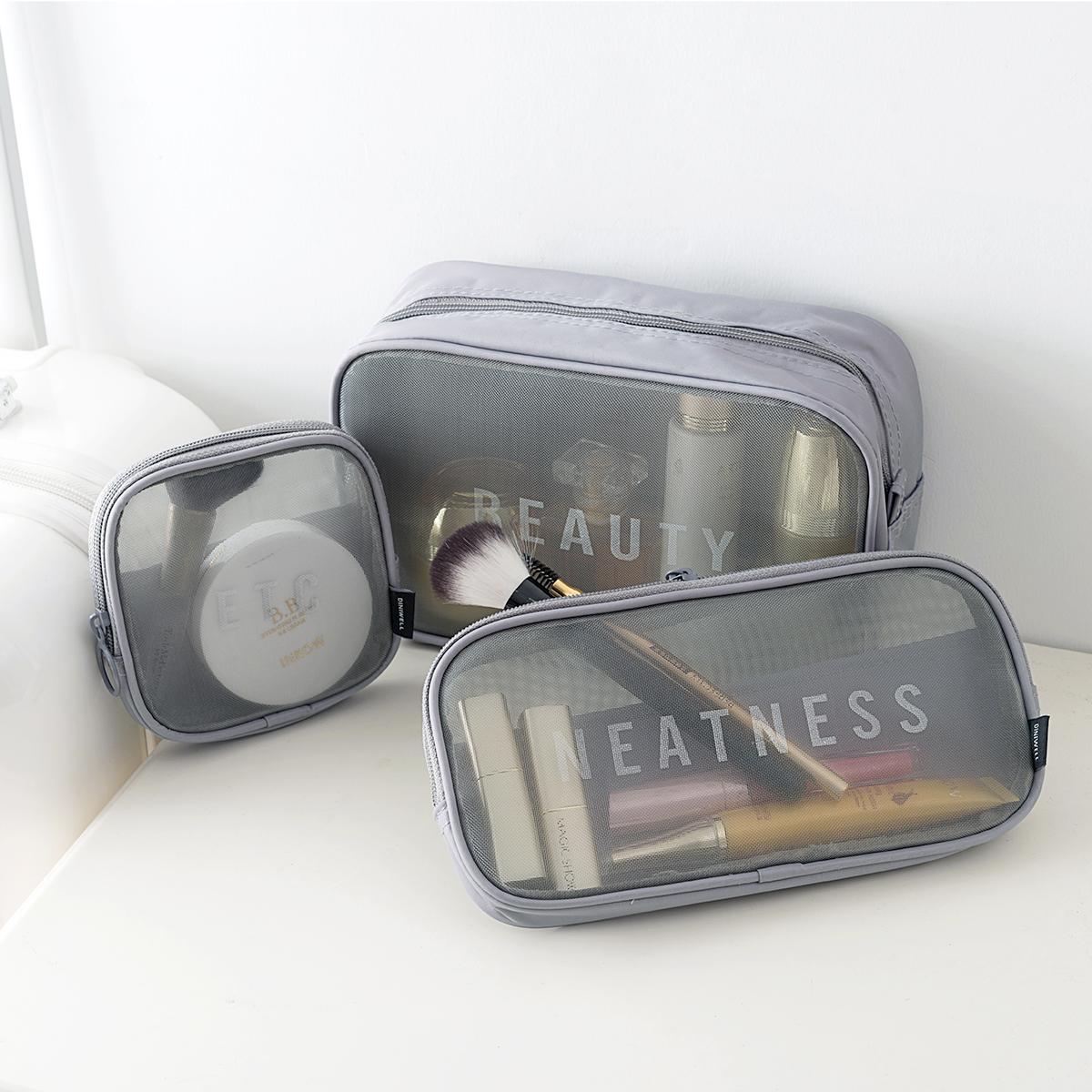 韩国化妆包小号便携收纳包女士透明收纳袋网纱洗漱包大容量手拿包