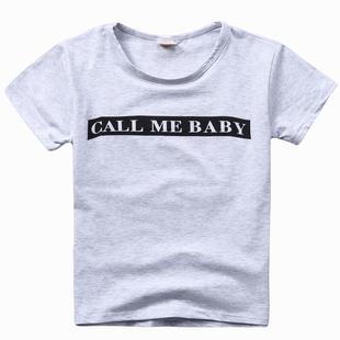 圆领儿童短袖中小童T恤