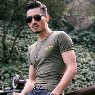 夏季男士军迷户外纯棉短袖迷彩T恤针织衫情侣体恤运动健身半袖衫