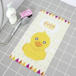 大号PVC儿童孕妇卡通脚垫洗澡浴室防滑垫卫生间带吸盘浴缸地垫子