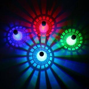 尼龙羽毛球 带LED灯发光夜光羽毛球 夜光塑料羽球稳定打不烂包邮