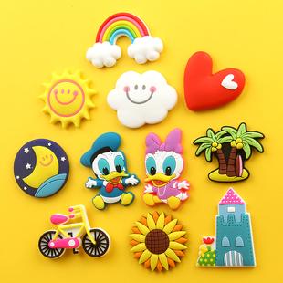 韩国卡通创意彩虹软胶冰箱贴磁贴早教贴磁铁贴冰箱儿童软磁贴一套