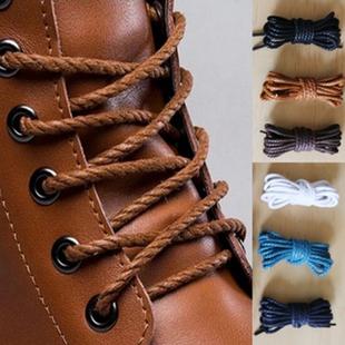 皮鞋鞋带男女打蜡鞋带圆粗马丁靴短靴子黑色棕色高跟皮靴工装鞋