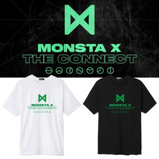 MONSTA X专辑THE CONNECT周边应援同款短袖T恤学生男女上衣打底衫