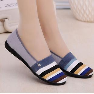 老北京休闲鞋透气板鞋秋季平底女鞋防滑单鞋工作布鞋低帮夏季潮鞋