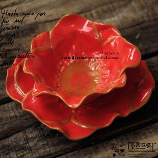 东西在场 Studi* B 糖果色 陶瓷  创意 美拍 单层花瓣碗 盘