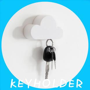 云朵钥匙收纳器创意钥匙吸磁铁强磁吸力门口装饰挂钩挂件钥匙防丢