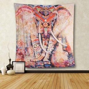 印度大象波西米亚ins背景布挂毯卧室客厅床头装饰布墙壁毯大挂布