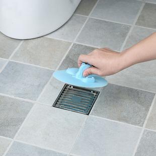 日本创意家用浴室水堵水槽防臭防堵塞子下水道吸盘地漏盖子水杯盖