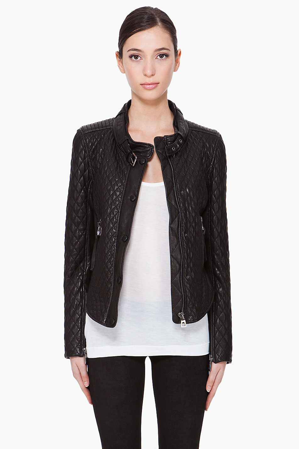 Кожаная куртка Barbara bui 21340f097001 Quilted Motorcycle цены онлайн