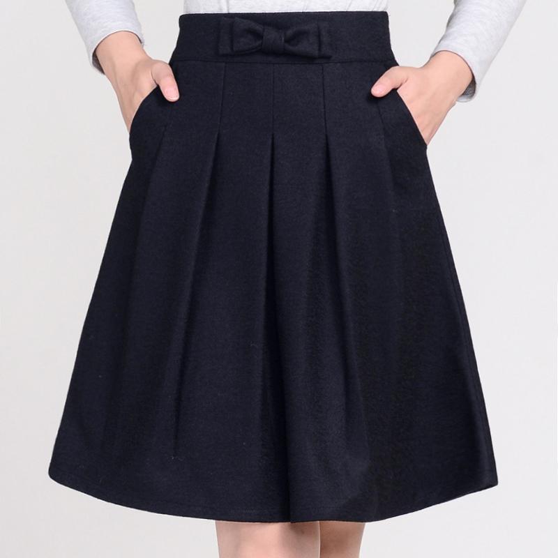 秋冬百褶裙毛呢裙时尚小