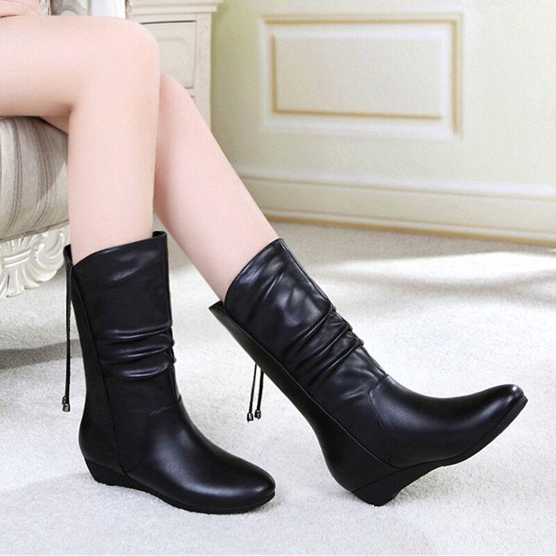 低跟坡跟鞋 2016秋冬新款范百丽坡跟中筒靴女靴裸靴低跟靴中跟短靴子女鞋_推荐淘宝好看的低跟坡跟鞋