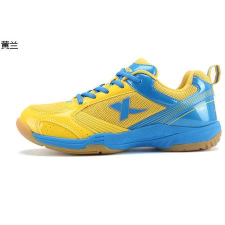 黄色运动鞋 特步正品春季新款耐磨防滑训练运动鞋 透气轻便黄色男子羽毛球鞋_推荐淘宝好看的黄色运动鞋