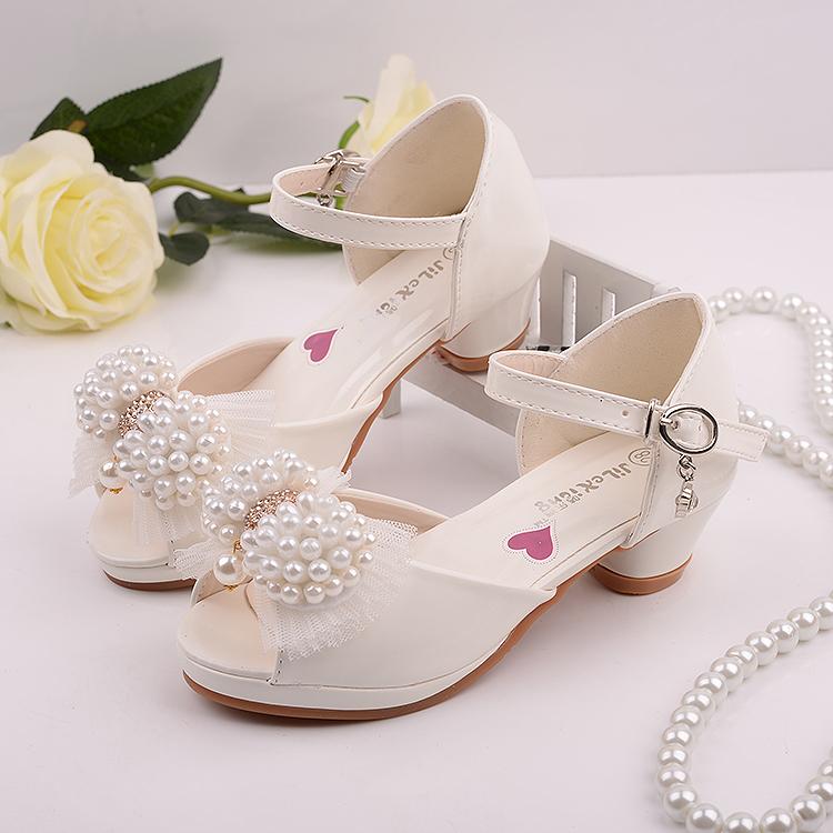 白色高跟凉鞋 2016新款女童高跟凉鞋夏季童鞋儿童凉鞋韩版爆款公主鞋白色舞蹈鞋_推荐淘宝好看的女白色高跟凉鞋