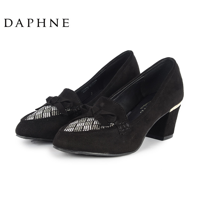 达芙妮单鞋 Daphne达芙妮DAPHNE for ShoeBox休闲女鞋粗高跟单鞋2615404019_推荐淘宝好看的女达芙妮单鞋