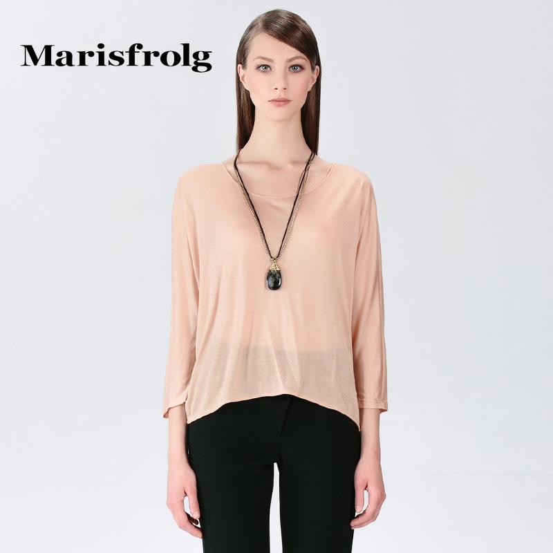 玛丝菲尔女装折扣店 Marisfrolg玛丝菲尔 简约一片式上衣 专柜正品夏季新女装_推荐淘宝好看的玛丝菲尔