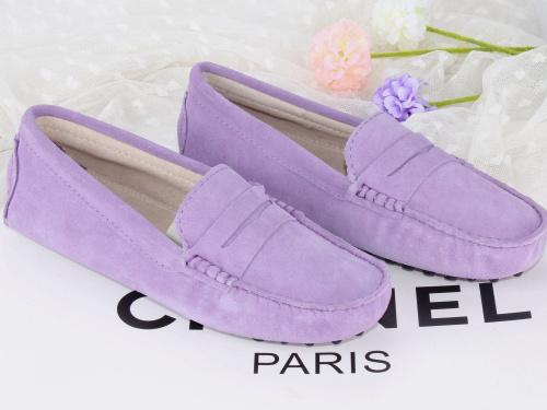 紫色豆豆鞋 2016新款春热卖豆豆鞋女鞋真皮单鞋磨砂皮休闲鞋 浅紫色有33码_推荐淘宝好看的紫色豆豆鞋