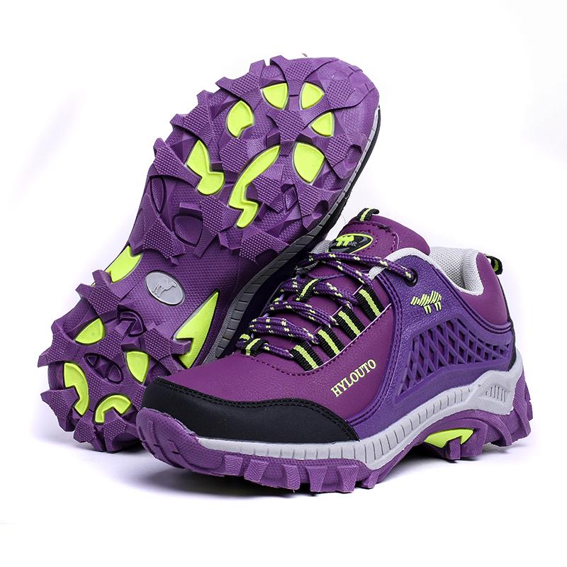 紫色运动鞋 秋冬季中老年人女鞋厚底妈妈鞋运动休闲冬天紫色粉色鞋单鞋旅游鞋_推荐淘宝好看的紫色运动鞋