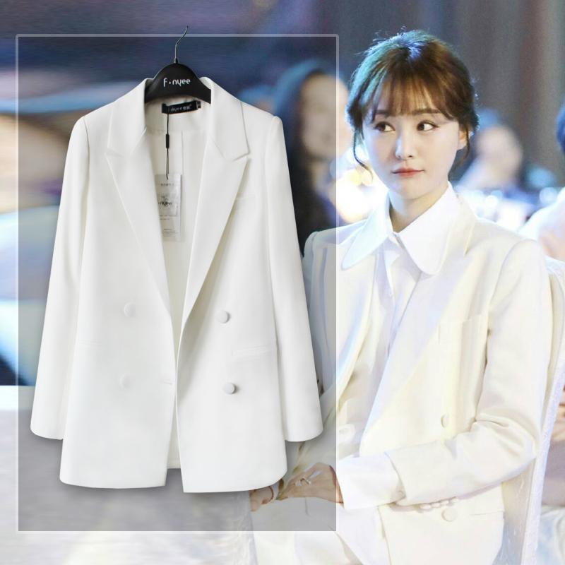 女士小西服 2016秋明星同款外套 修身礼服 休闲小西装女白色西服白领聚会上衣_推荐淘宝好看的女小西装