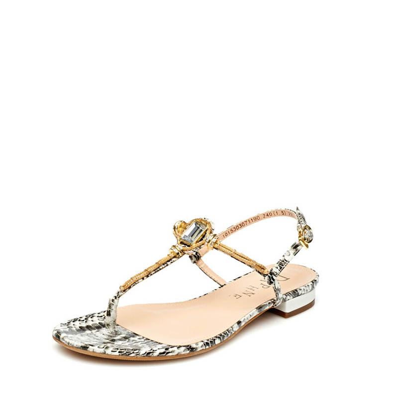 水钻凉鞋 Daphne达芙妮新款凉鞋平底低跟夹趾水钻一字扣女凉鞋1015303071_推荐淘宝好看的女水钻凉鞋