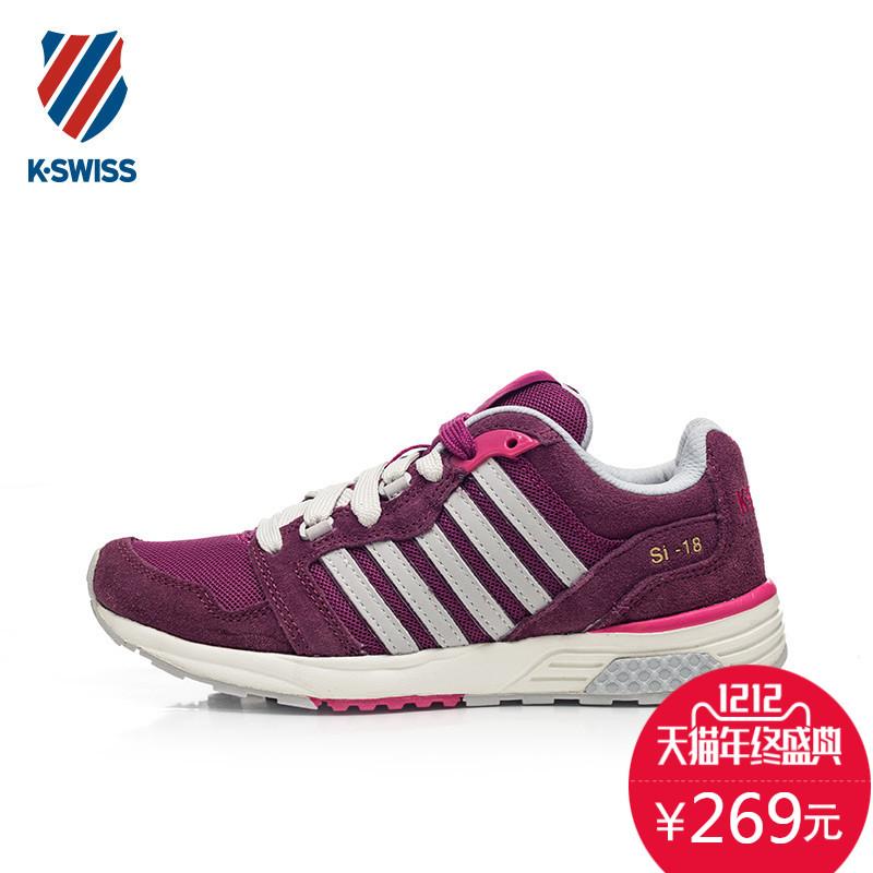 紫色运动鞋 ELAND衣恋旗下 kswiss盖世威 女子运动鞋紫色跑步鞋 KWPF5F7204_推荐淘宝好看的紫色运动鞋