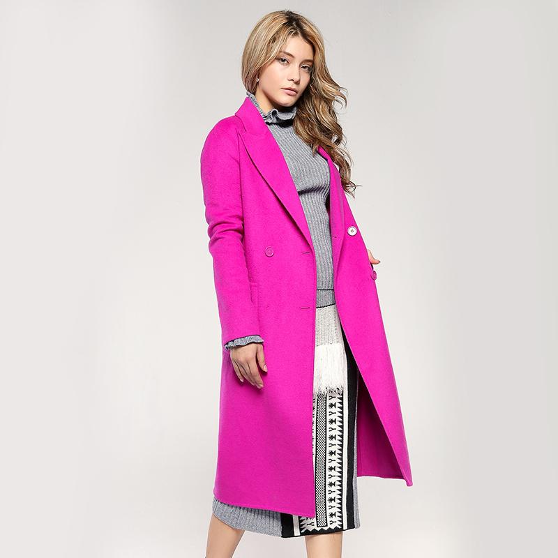 欧时力女装 摩安欧时力珂2017新女秋装系带宽松长羊毛呢大衣外套1JY3343440_推荐淘宝好看的欧时力