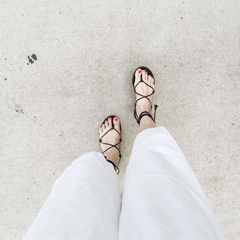 罗马平底鞋 凉鞋女夏2017新款交叉绑带平底夹趾波西米亚沙滩鞋平跟学生罗马鞋_推荐淘宝好看的女罗马平底鞋