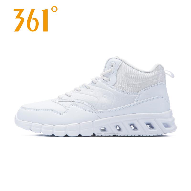361运动鞋 361度正品2016冬季新款白色运动鞋女跑步鞋  361减震高帮休闲鞋_推荐淘宝好看的女361运动鞋