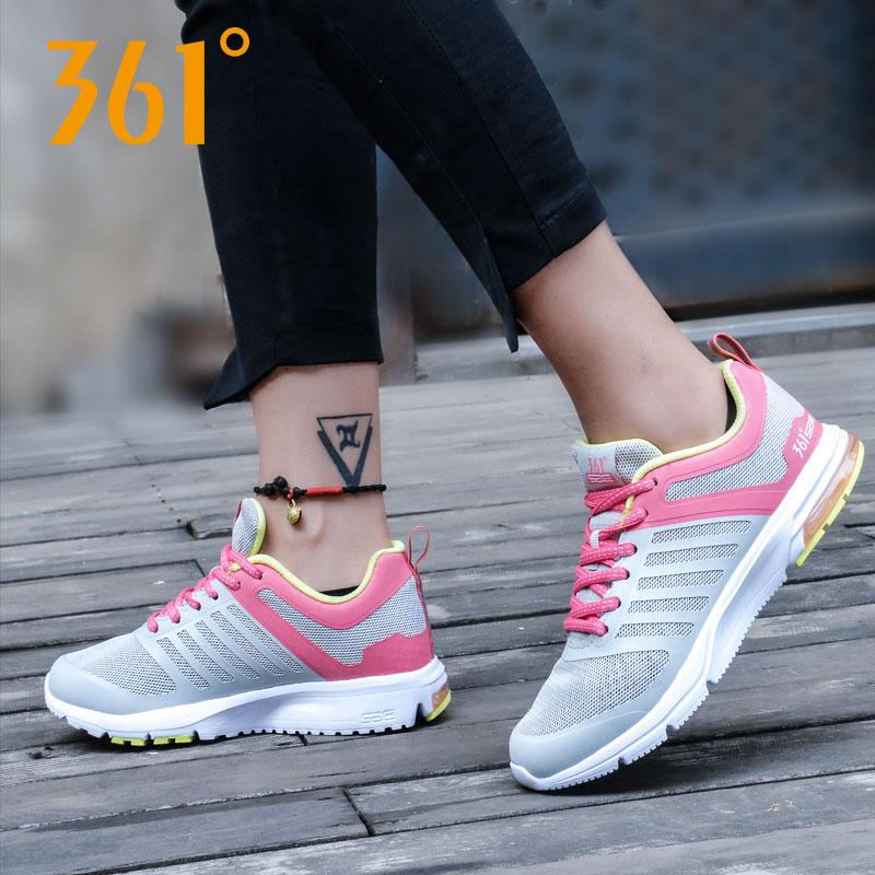 361度女式运动鞋 361度女鞋气垫跑步鞋春夏款时尚跑步运动碳素透气跑鞋581622205_推荐淘宝好看的女361度女运动鞋