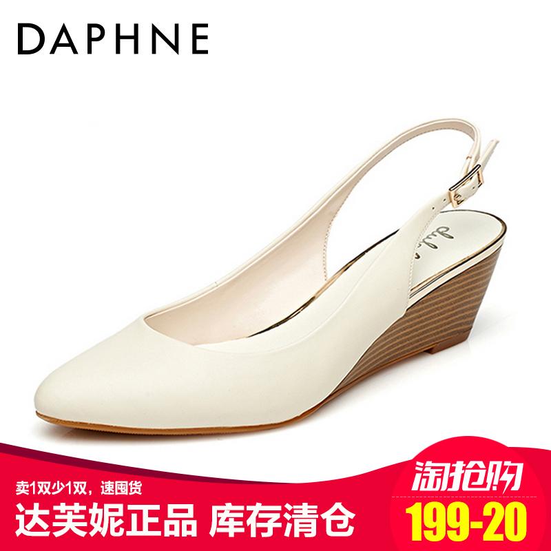 达芙妮坡跟鞋 Daphne达芙妮正品杜拉拉单鞋女坡跟后空丁字式扣带女单鞋_推荐淘宝好看的达芙妮坡跟鞋