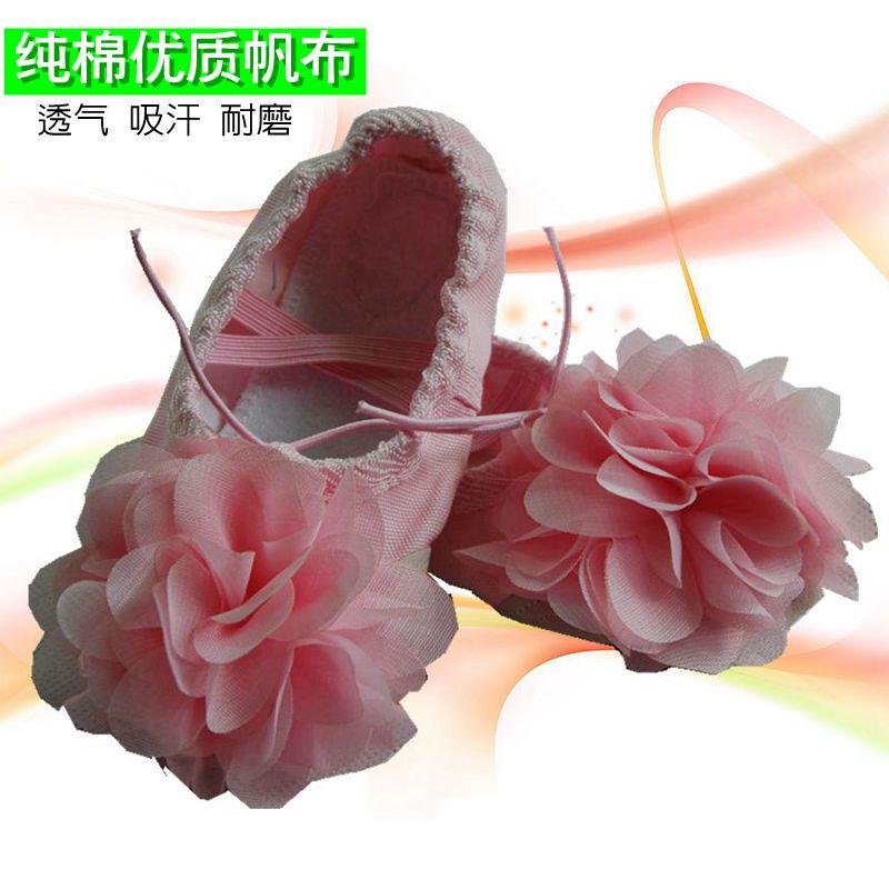 粉红色帆布鞋 正品粉红色儿童舞蹈鞋 帆布鞋体操鞋 练功鞋 芭蕾 跳舞鞋女童软底_推荐淘宝好看的粉红色帆布鞋
