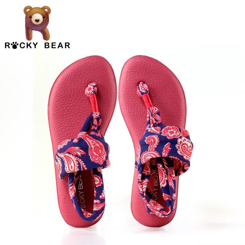 女凉鞋 ROCKY BEAR洛克熊女士凉鞋夏 百搭舒适低跟防滑平底 学生凉鞋_推荐淘宝好看的女凉鞋