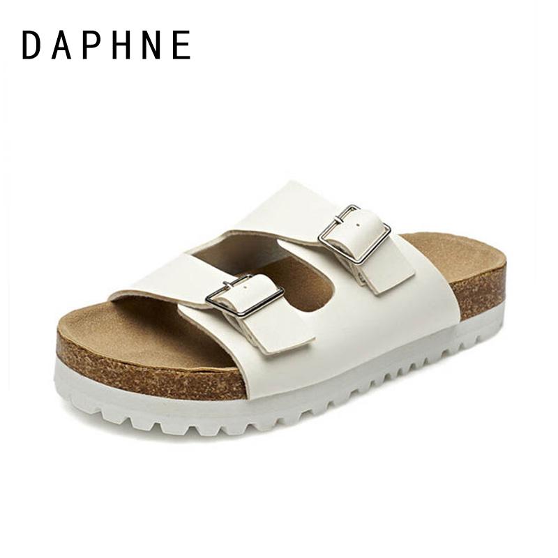 达芙妮罗马鞋 Daphne达芙妮春夏新款沙滩鞋 罗马风平跟休闲女凉拖鞋1515303002_推荐淘宝好看的达芙妮罗马鞋