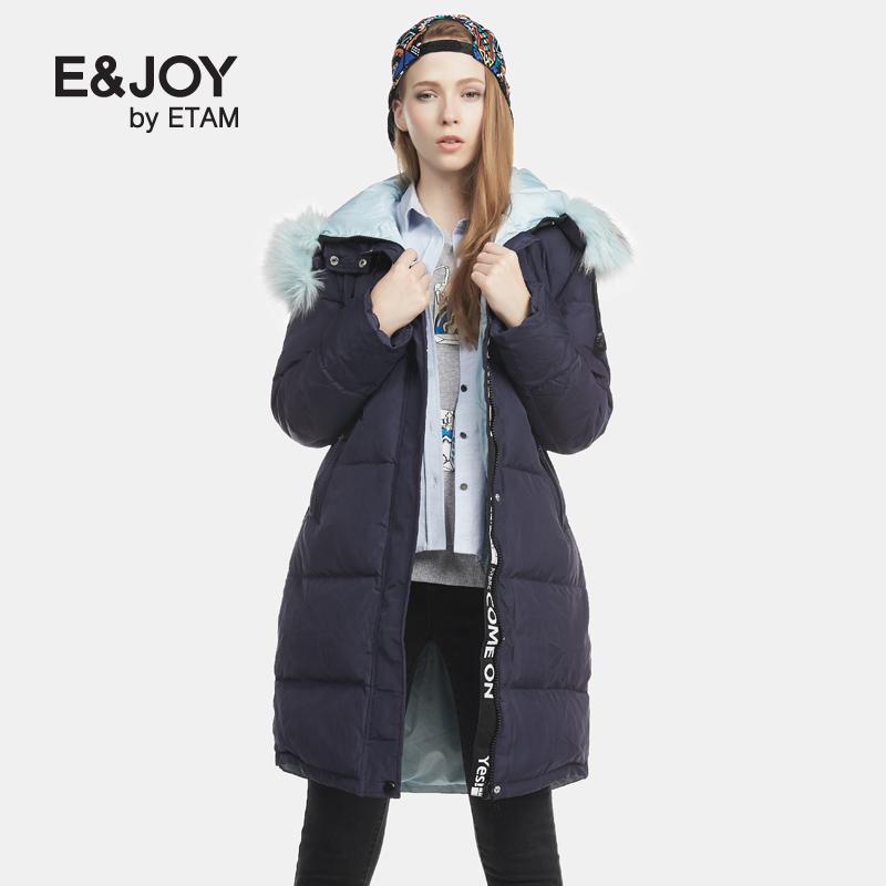 艾格羽绒服 Etam艾格E&joy2016冬新品中长款毛领羽绒服160835015_推荐淘宝好看的艾格羽绒服