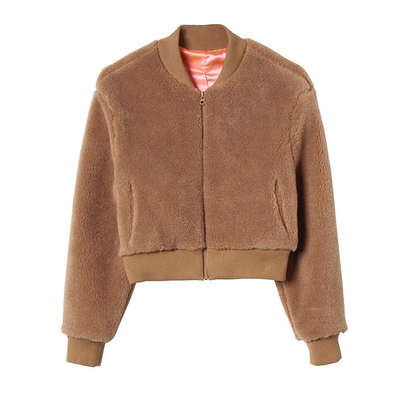 欧时力服装 摩安欧时力珂2017冬女装冬新款款立领棒球服羊毛短外套1JH4342400_推荐淘宝好看的欧时力