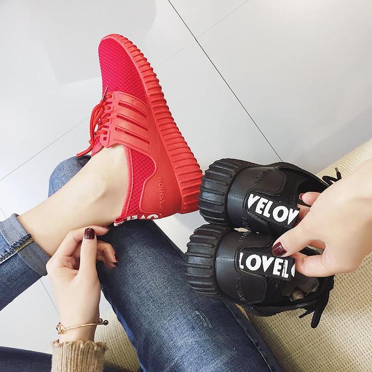 黑色运动鞋 纯黑色系带工作鞋女皮鞋平底软底防滑上班鞋休闲运动鞋小白鞋_推荐淘宝好看的黑色运动鞋