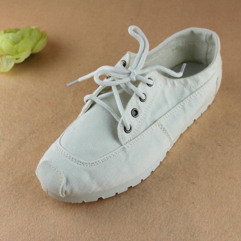 紫色帆布鞋 春秋老北京布鞋情侣鞋系带帆布鞋小白鞋紫色舒适平跟女单鞋学生鞋_推荐淘宝好看的紫色帆布鞋