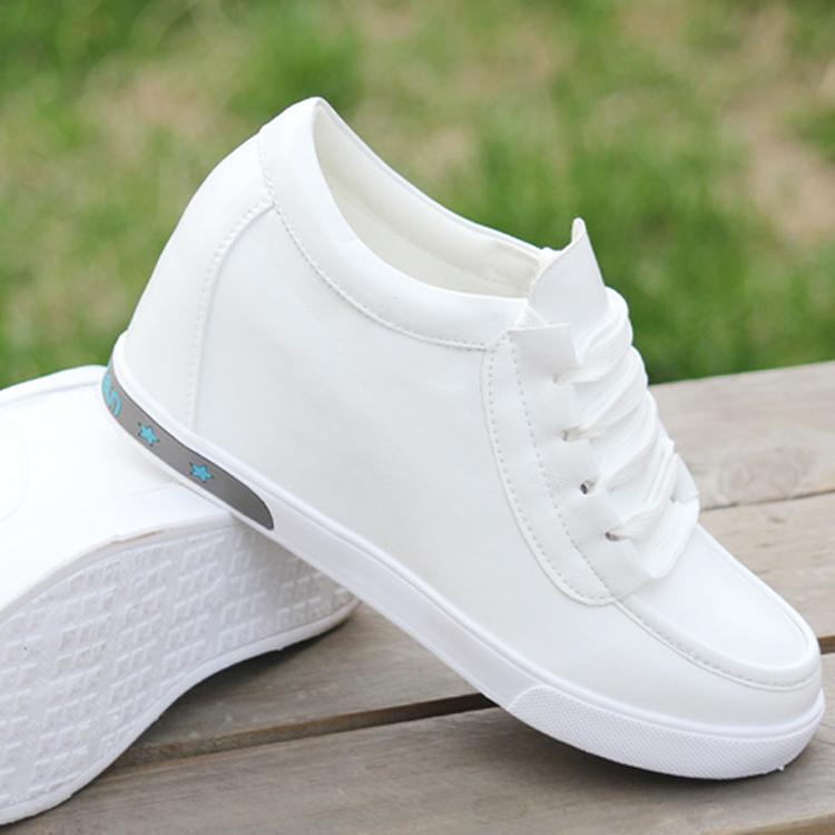 高跟坡跟鞋 2016秋冬新款韩版内增高女鞋皮鞋单鞋休闲运动鞋高跟鞋坡跟小白鞋_推荐淘宝好看的高跟坡跟鞋