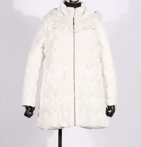 白色羽绒服 秀亦专柜正品-白色 深蓝羽绒服 S44Y407 吊牌价:1699_推荐淘宝好看的白色羽绒服