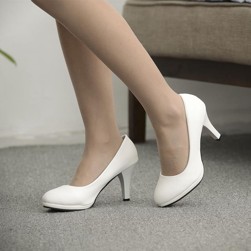 中国高跟鞋 断码清仓不退不换高跟鞋磨砂皮女鞋白色礼仪鞋工装单鞋婚鞋伴娘鞋_推荐淘宝好看的女高跟鞋