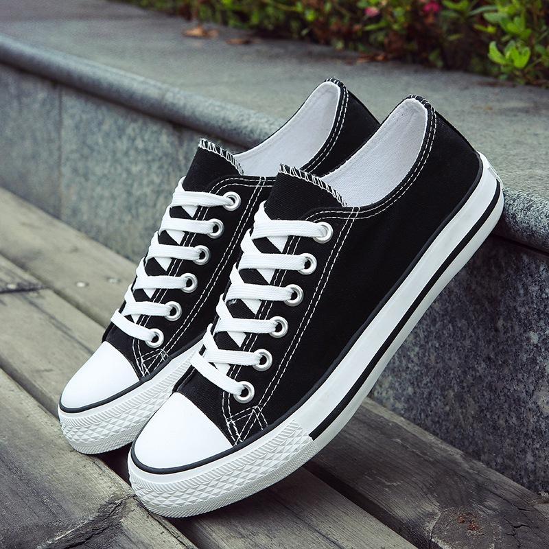 帆布鞋 2017新款低帮开口笑帆布鞋休闲鞋情侣款学生韩版经典男鞋女鞋板鞋_推荐淘宝好看的女帆布鞋