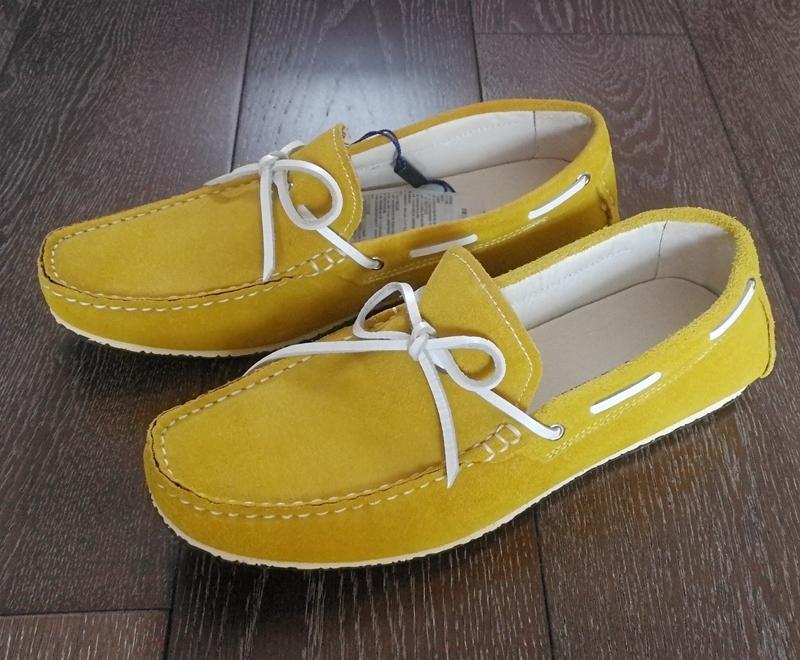 黄色豆豆鞋 马克新绅士黄色牛皮男鞋休闲真皮透气懒人豆豆鞋一脚蹬单鞋_推荐淘宝好看的黄色豆豆鞋