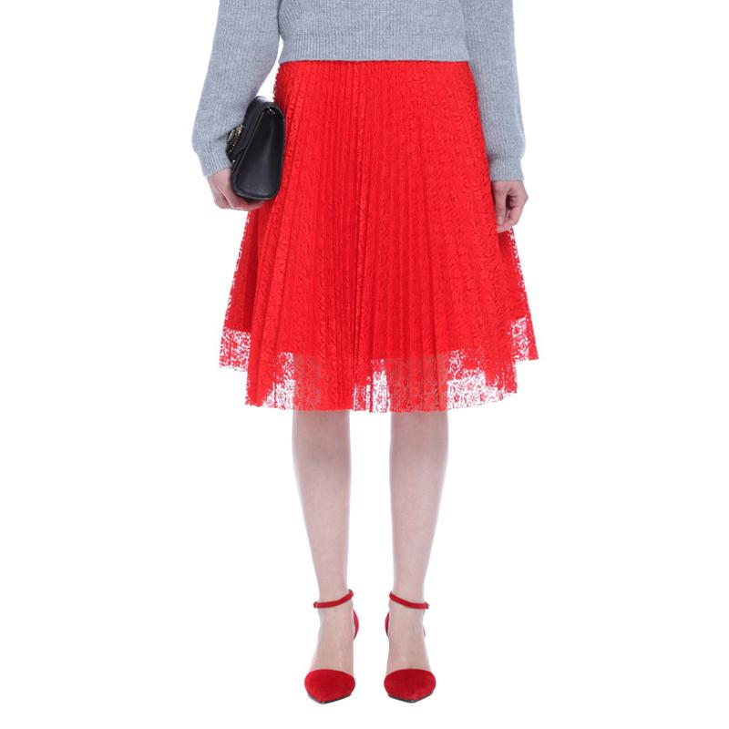 淘宝欧时力女装 ochirly欧时力新女装优雅纯色高腰蕾丝半身百褶中裙1153072590_推荐淘宝好看的欧时力女装