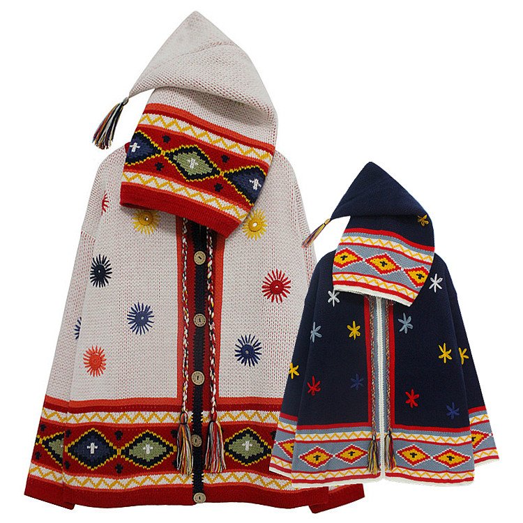 宽松可爱的针织衫外套 秋冬新款可爱魔法精灵女巫连帽圣诞古着毛衣加厚针织衫开衫外套女_推荐淘宝好看的可爱针织衫外套