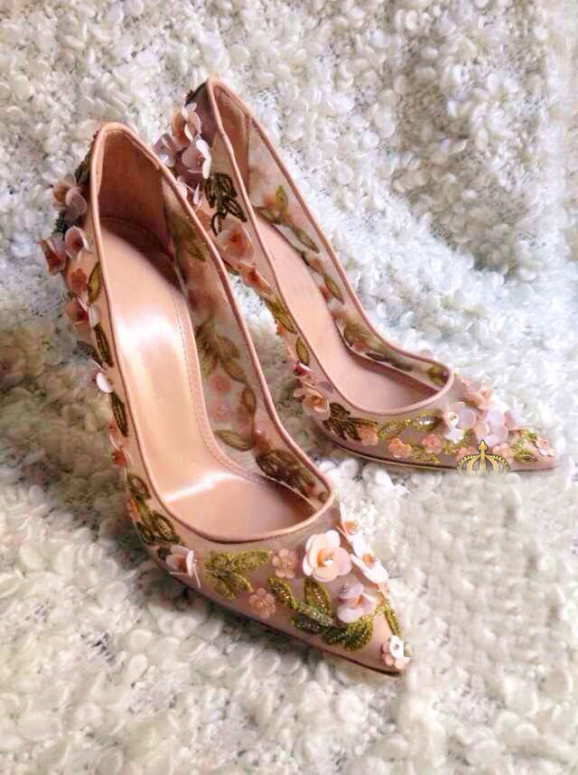 凉鞋 欧美2016夏季串珠花朵性感高跟鞋浅口蕾丝凉鞋网面细跟女单鞋婚鞋_推荐淘宝好看的女凉鞋